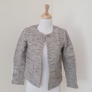 NWT! Eileen Fisher XXS round neck open  jacket .